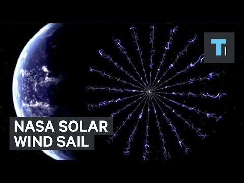 NASA solar wind sail