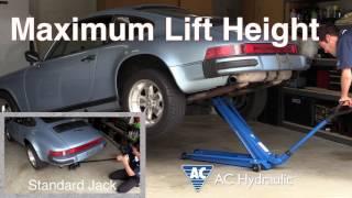 Car DIY Extra - AC Hydraulic Jack vs. Standard Jacks Comparison