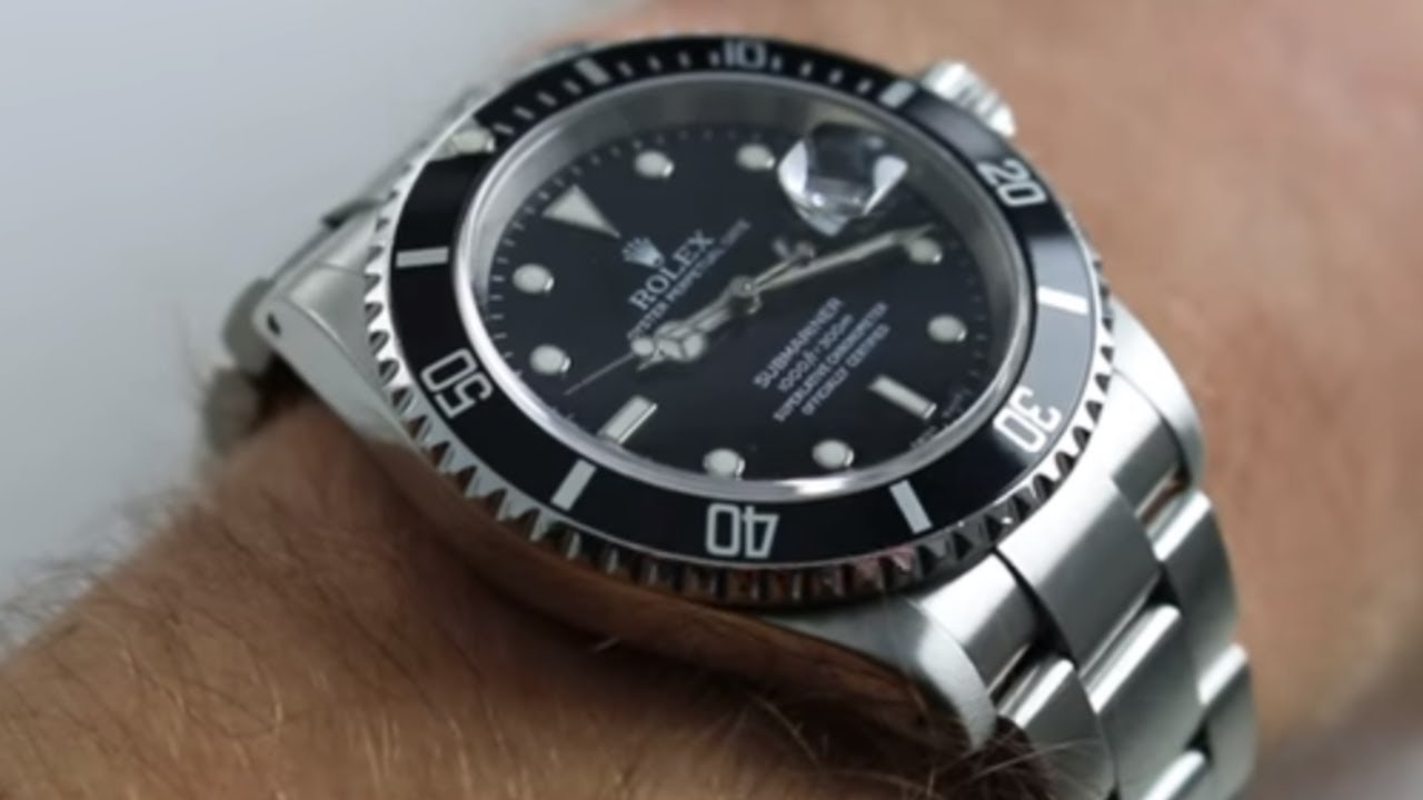 Rolex Submariner 16610 Steel Date Sub Watch Review - YouTube