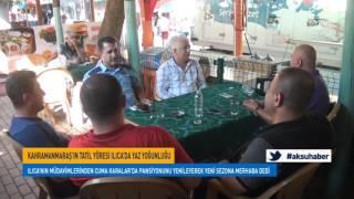 kahramanmaraş'ın tatil yöresi ılıca'da yaz yoğunluğu