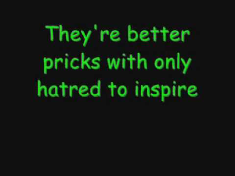 Billy Talent - Covered In Cowardice (Lyrics)