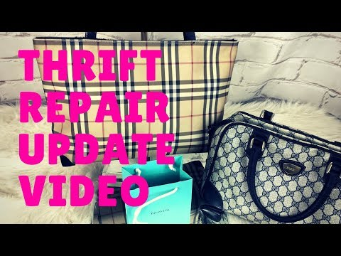 f007dce8335a Designer Thrifted Bags Repair Update Burberry