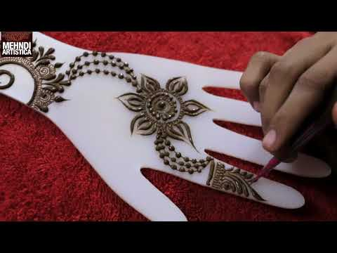 One Of The Best Beautiful Gulf Henna Mehndi Design To Apply | Learn How To Make Mehendi Designs