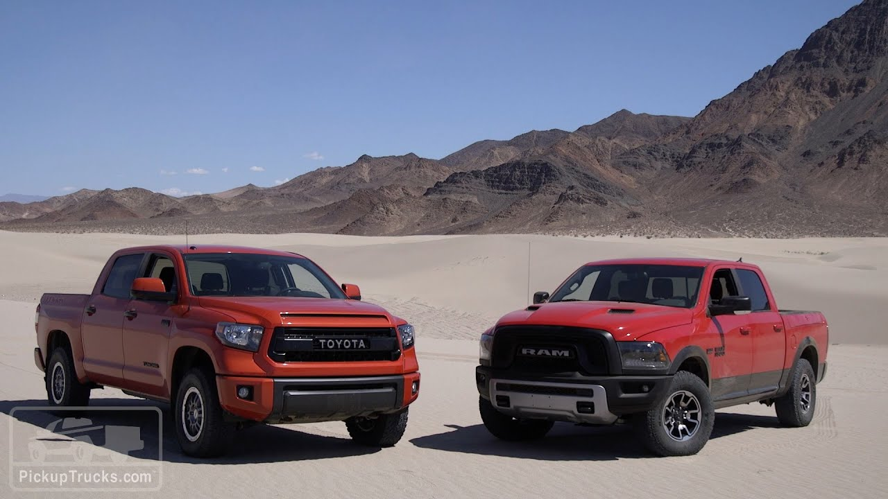 Unique 2015 4x4 Challenge Ram Rebel Vs Toyota Tundra TRD Pro
