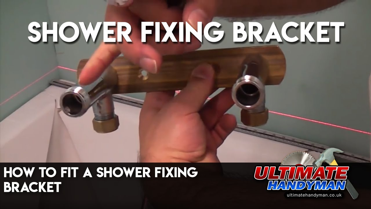 How To Fit A Shower Fixing Bracket Youtube