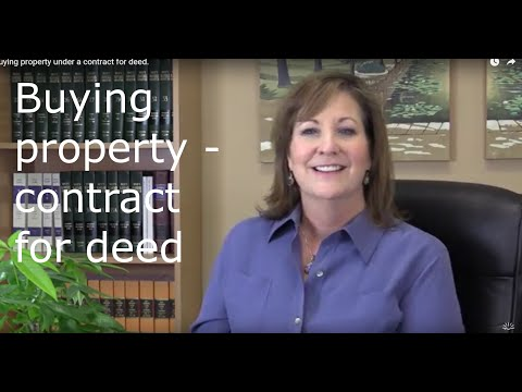 What Is A Contract For Deed.