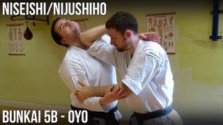 Niseishi/Nijushiho Bunkai - 5b Oyo (Age uke, age empi, shuto uke, yoko geri, kagi zuki)
