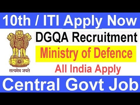 Latest Govt job | DGQA Ministry Of Defence Recruitment | All India Apply