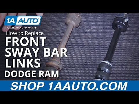How to Install Replace Front Sway Bar Links 2006-08 Dodge Ram 1500 BUY AUTO PARTS AT 1AAUTO.COM