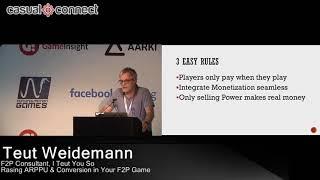 Raising ARPPU & Conversion in your f2p Game | Teut Weidemann