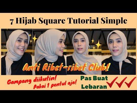 Cara Memakai Hijab Segiempat Ala Laudya Cynthia Bella - Beautynesia Beauty Tutorial.