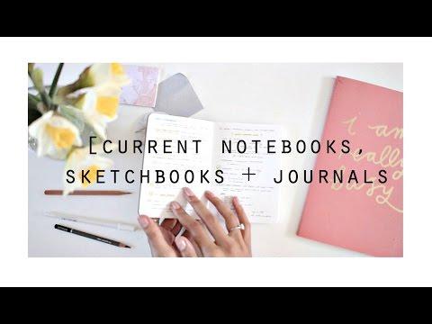 My Current Notebooks, Sketchbooks + Journals · semiskimmedmin
