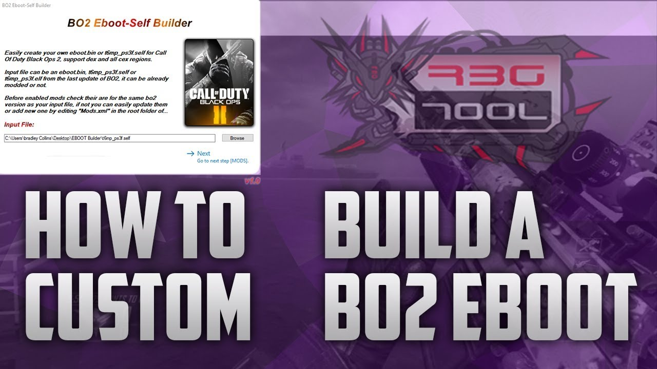How To Make A [BO2] EBOOT With Self-EBOOT-Builder by StaticModz