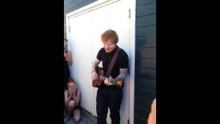 Ed Sheeran Give Me Love Seattle 8 31 13