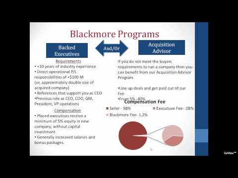 Blackmore Partners, Inc. - Winning The Private Equity Game
