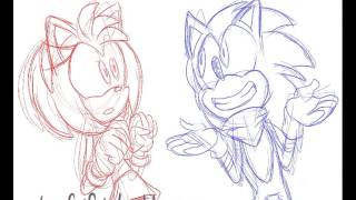 TVPaint Rough Animation: Call Me Maybe (boom!SonAmy)