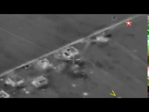 Russian Air Force Strikes the area where Pilot Was Killed , Idlib
