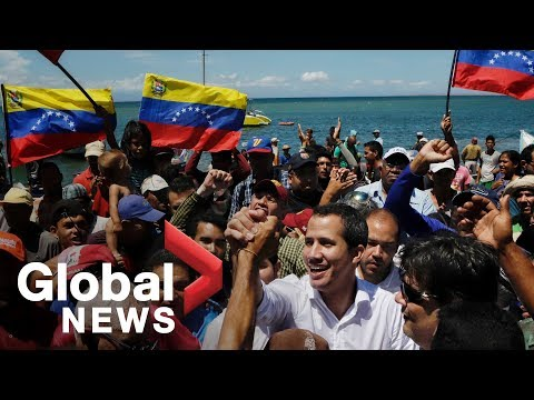 Guaido receives hero's welcome at Venezuela's Margarita Island amid peace talks