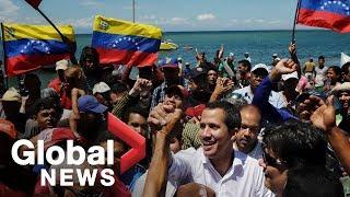 Guaido receives hero's welcome at Venezuela's Margarita Island amid peace talks