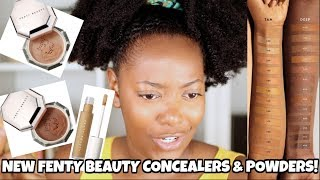 NEW FENTY PRO FILT'R CONCEALER & POWDERS FOR DARK SKIN (410-430) Regular girl perspective lol