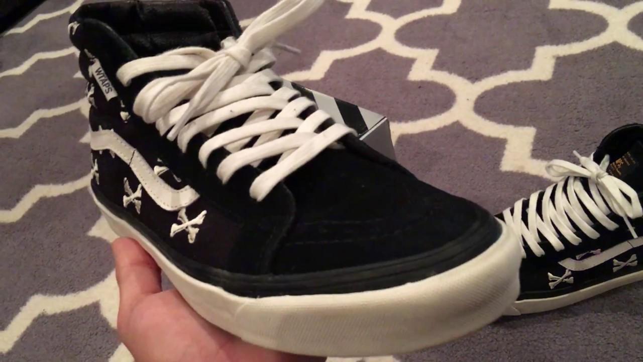 95b31b5994 Shoe Review  Vans Vault x WTAPS Bones Sk8 Hi LX - Black - YouTube