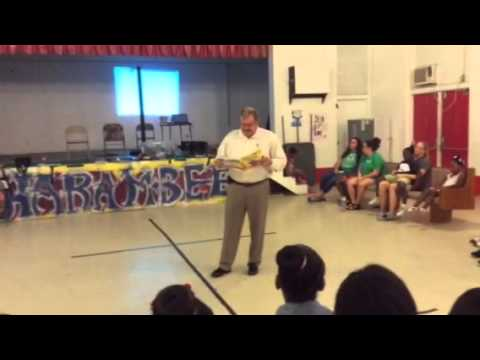 County Administrator Robert Presnell: Read Aloud Session The Freedom School, Quincy