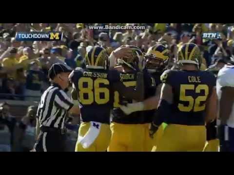 College Football Michigan Wolverines Vs The Northwestern Wildcats