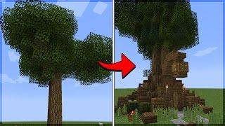 Minecraft: CONSTRUA UMA CASA NA ÁRVORE SIMPLES E FÁCIL!