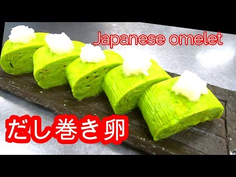 How to make green sushi roll egg