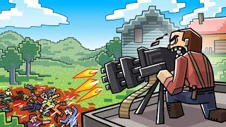 Minecraft Battle Royale - LEGENDARY MINIGUN UPDATE! (Fortnite in Minecraft)