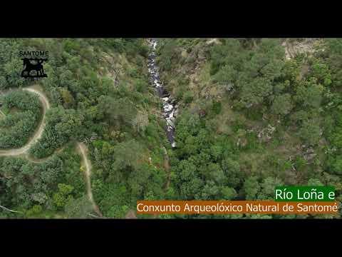 <p>O río Loña baixa desde Loña do Monte (Nogueira de Ramuín) ata desembocar no Miño na cidade de Ourense, formando parte indispensable do Conxunto Arqueolóxico Natural de Santomé</p>