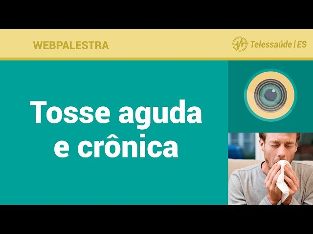 WebPalestra: Tosse Aguda e Crônica