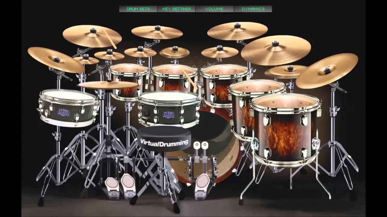 virtual drumming mike portnoy drum set youtube. Black Bedroom Furniture Sets. Home Design Ideas