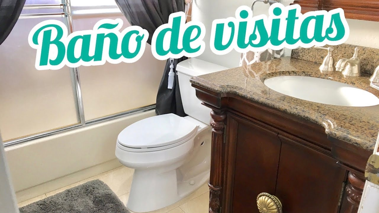 Como decorar un ba o peque o tour ba o de visitas youtube for Decorar mi bano pequeno