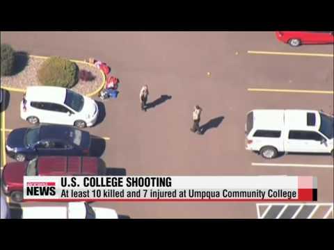 At least ten people killed in shooting at college in Oregon강의실 돌며 난사... 미국 대학