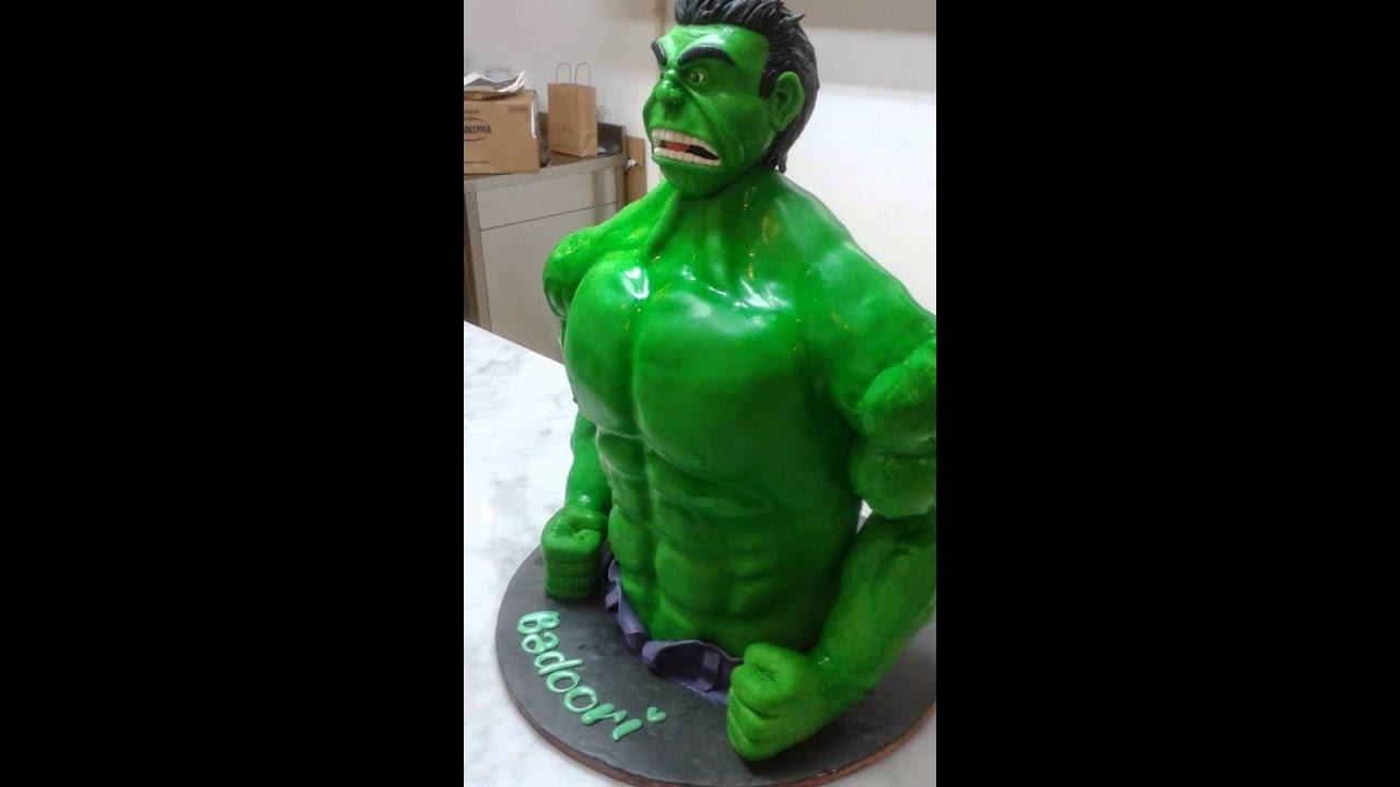 Incredible Hulk Cake YouTube
