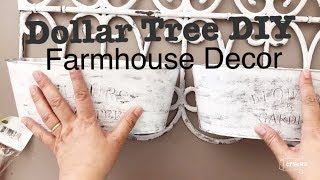 DOLLAR TREE DIY FARMHOUSE DECOR & ORGANIZER || DOUBLE PLANTER EASY & CHEAP || Home and Wedding Decor