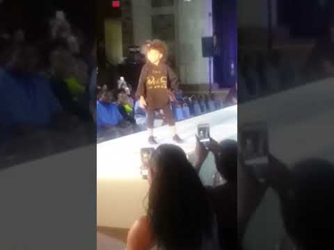Hitting the runway at Dream Fashion Show for Enjoy Detroit...