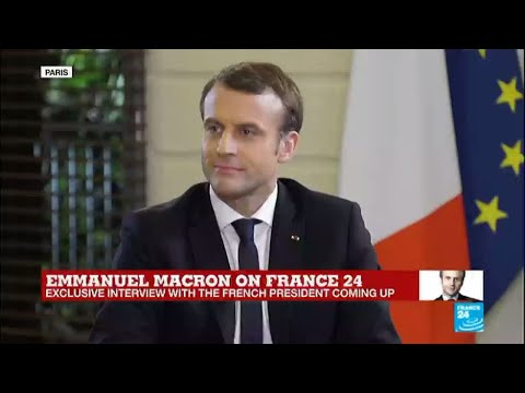 EXCLUSIVE - Interview with the French president Emmanuel Macron