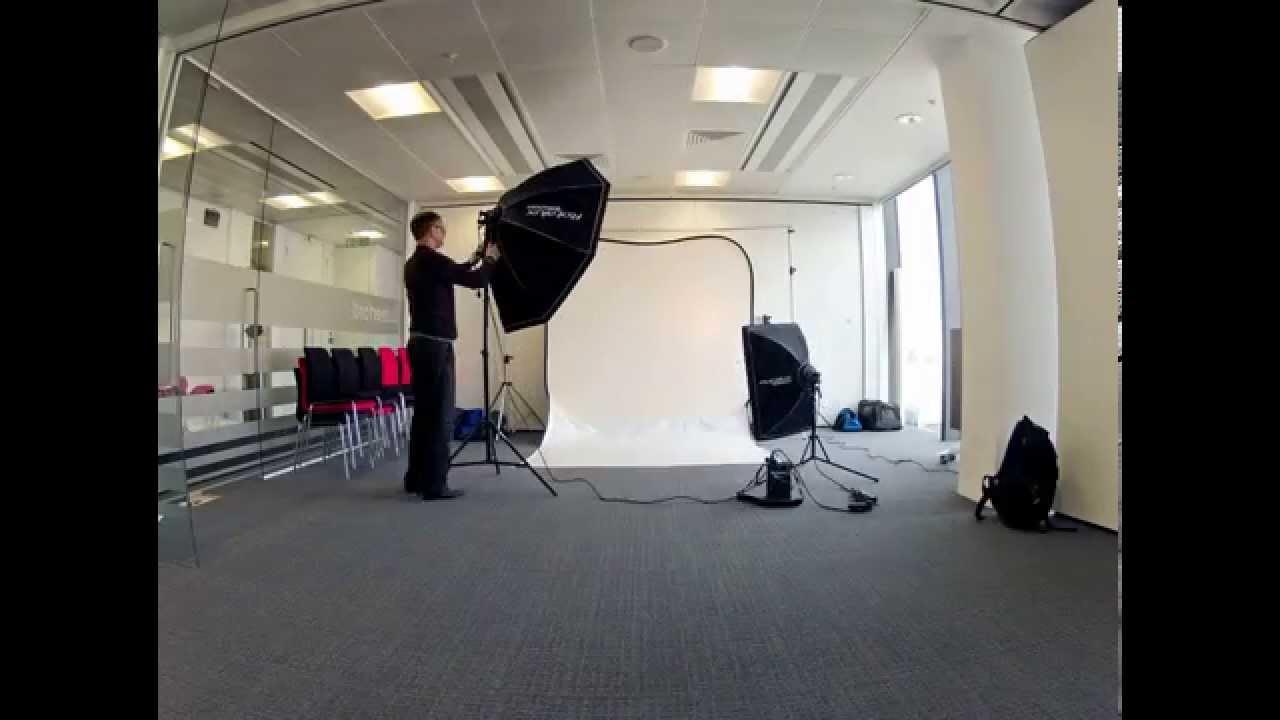 Corporate Portraiture  Portable Studio Setup  YouTube