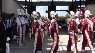 2014 MEAC/SWAC Challenge - AAMU Marching into the Stadium