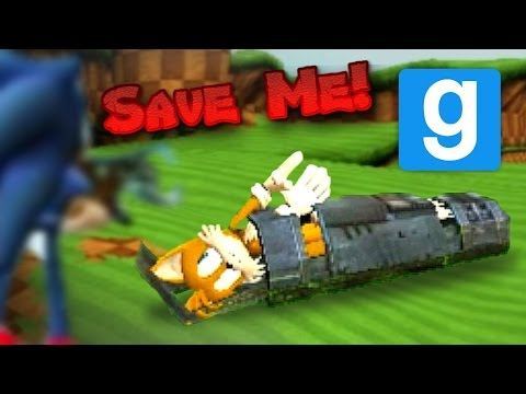 Let's Play Garry's Mod Sandbox: Sonic And Tails Build Failure!