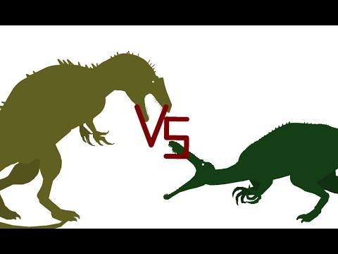 Acrocanthosaurus Vs Suchomimus