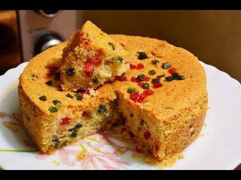 Rava Cake | Semolina cake | Semolina Tutti Fruitti cake | Suji Cake | Suji Curd Cake