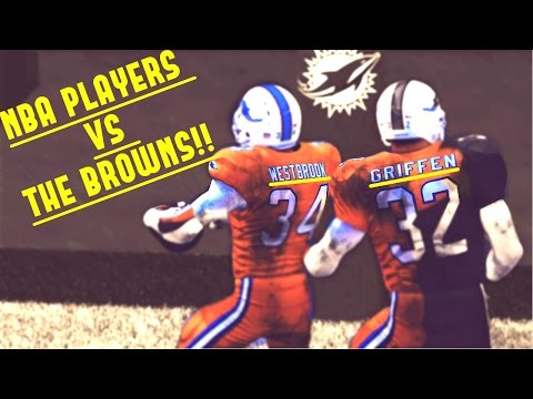 CAN A TEAM OF NBA PLAYERS BEAT THE BROWNS?!? NBA VS NFL!!