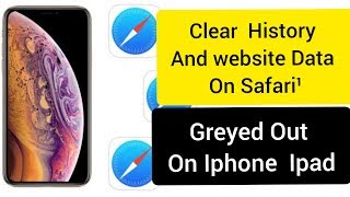 Clear History and website Data  in Safari App on Iphone  Ipad IOS 12.3 IOS 13 / Видео