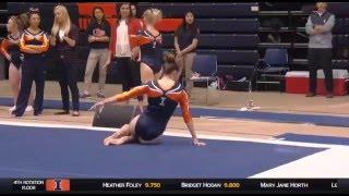 Mary Jane Horth (Illinois-Champaign) 2016 Floor Vs Michigan 9.85