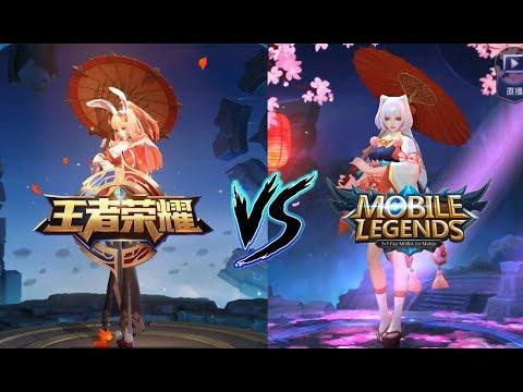 【王者荣耀(King Of Glory)  VS  Mobile Legends(无尽对决 )】 英雄/皮肤对应