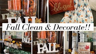 FALL CLEAN AND DECORATE WITH ME LIVINGROOM EDITION // MY DECOR IS LIT! // EVERYTHING ON A BUDGET