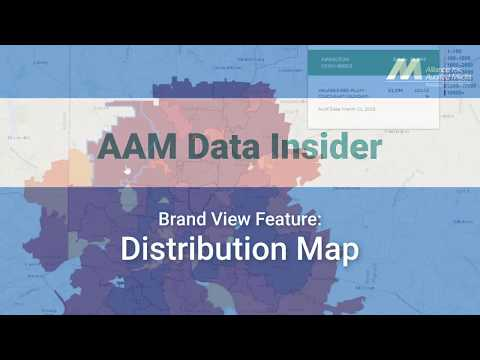 Brand View Feature: Distribution Map